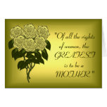 Yellow Rose Bouquet (Mothers Day) Greeting Card