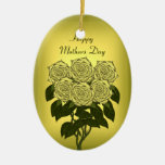 Yellow Rose Bouquet (Mothers Day) Christmas Tree Ornaments