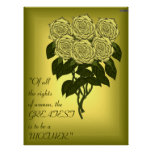 Yellow Rose Bouquet (Mothers Day) (Poster)