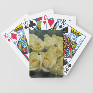 Yellow Rose bouquet spotted background Bicycle Playing Cards
