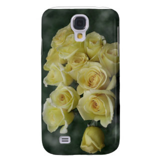 Yellow Rose bouquet spotted background Galaxy S4 Case