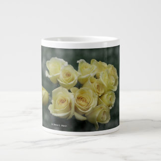 Yellow Rose bouquet spotted background Giant Coffee Mug