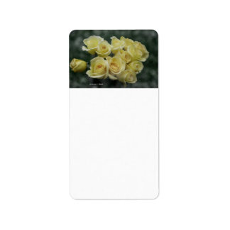 Yellow Rose bouquet spotted background Address Label