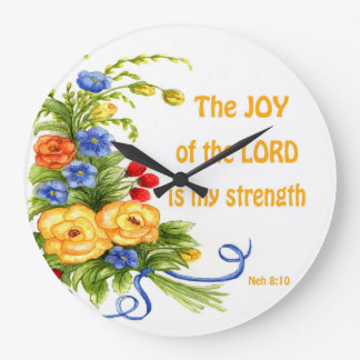 yellow rose bouquet with scripture clock