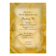 Yellow Rose Bridal Shower Invitation