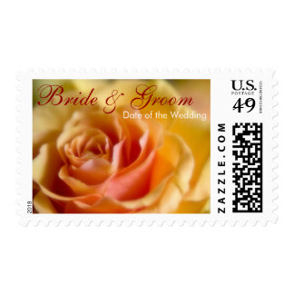 Yellow Rose • Bride & Groom Stamp
