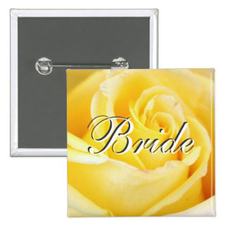 Yellow Rose Bride Pin