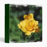 Yellow Rose Bud Binder