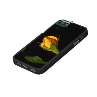 Yellow Rose Bud iPhone 5 Cases