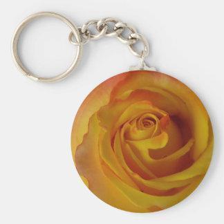 yellow rose bud keychain