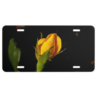 Yellow Rose Bud License Plate