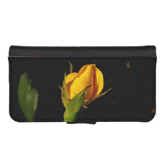 Yellow Rose Bud iPhone 5 Wallet