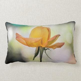 Yellow Rose Bud Throw Pillow