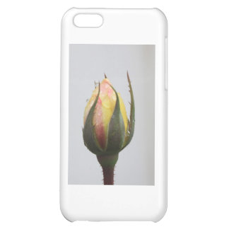 Yellow Rose bud with rain droplets. iPhone 5C Case