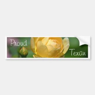Yellow Rose Bumper Sticker