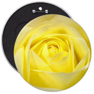 Yellow Rose Pinback Button