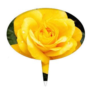 Yellow Rose Cake Topper