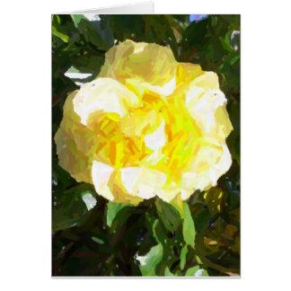 """Yellow Rose"" Greeting Card"