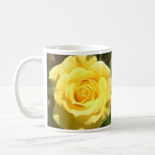 Yellow Rose Classic White Coffee Mug
