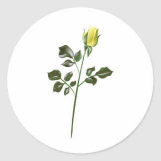 Yellow Rose Clipart Classic Round Sticker
