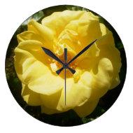Yellow Rose Clock
