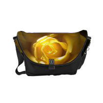 Yellow Rose Close Up Purse Small Messenger Bag
