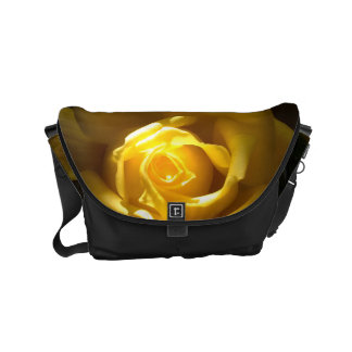 Yellow Rose Close Up Purse Small Messenger Bag