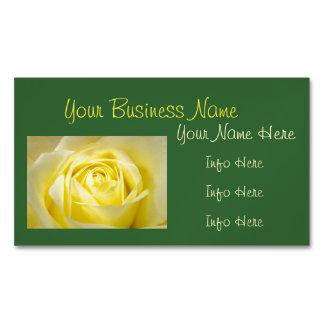 Yellow Rose Closeup Business Card Magnet