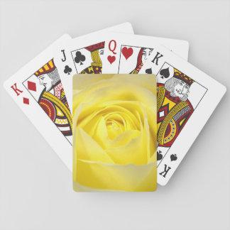 Yellow Rose Closeup Playing Cards