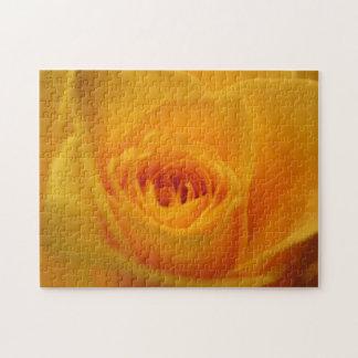 Yellow rose closeup jigsaw puzzles