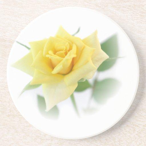 Yellow rose coasters