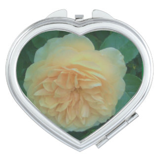 YELLOW ROSE COMPACT MIRROR FOR MAKEUP
