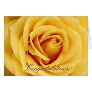 Yellow rose, Congratulations Card