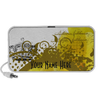Yellow Rose & Crown Collage Personalized Speaker