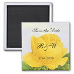 Yellow Rose Custom Save the Date Magnet Magnet