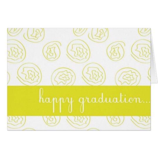 Yellow Rose Customizable Happy Graduation Card