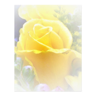 Yellow Rose Customized Letterhead