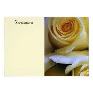 Yellow Rose Enclosure Card Invite