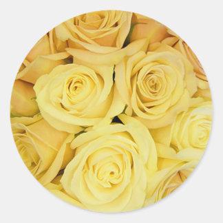 Yellow Rose Envelope Seal Stickers