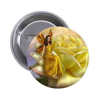 Yellow Rose Faery (Button)