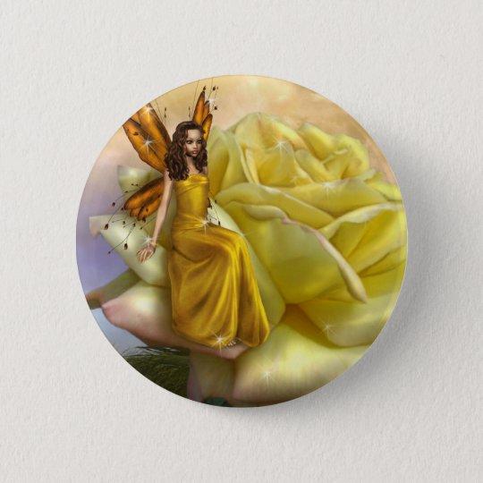 Yellow Rose Faery (Button) Button