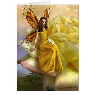 Yellow Rose Faery (Card) Card
