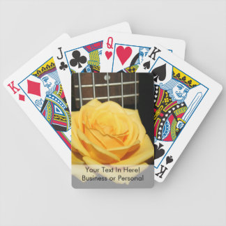 yellow rose five string bass music design photo bicycle playing cards