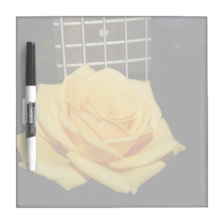 yellow rose five string bass music design photo dry erase board