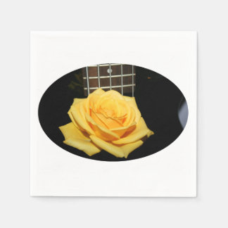 yellow rose five string bass music design photo napkin