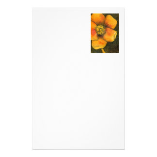 """""""Yellow Rose"""" Floral Stationery"""