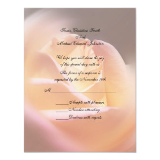 Yellow Rose Floral Wedding Response RSVP Card