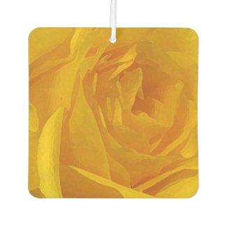 Yellow Rose Flower Air Freshener