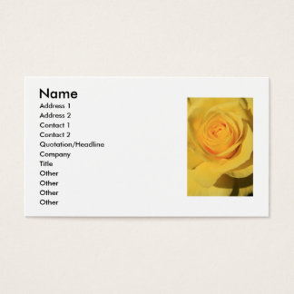 Yellow Rose Flower Business Card