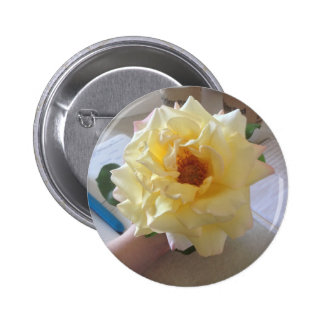Yellow Rose Flower Button